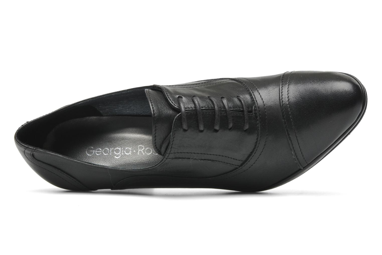 Chaussures à lacets Georgia Rose Linotte Noir vue gauche