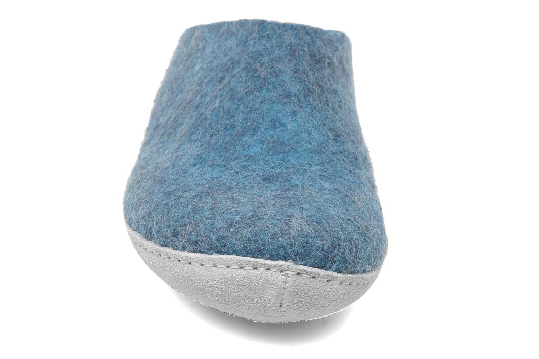 Hausschuhe Glerups Piras W blau schuhe getragen
