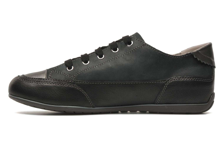 Sneaker Geox D NEW MOENA A schwarz ansicht von vorne