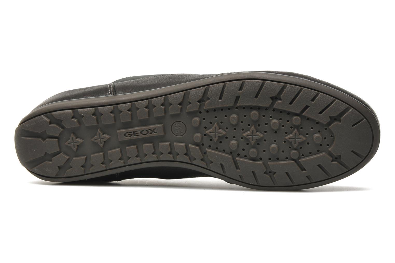 Sneaker Geox D NEW MOENA A schwarz ansicht von oben