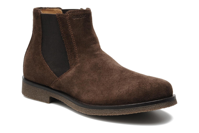 Boots en enkellaarsjes Geox U CLAUDIO G Bruin detail