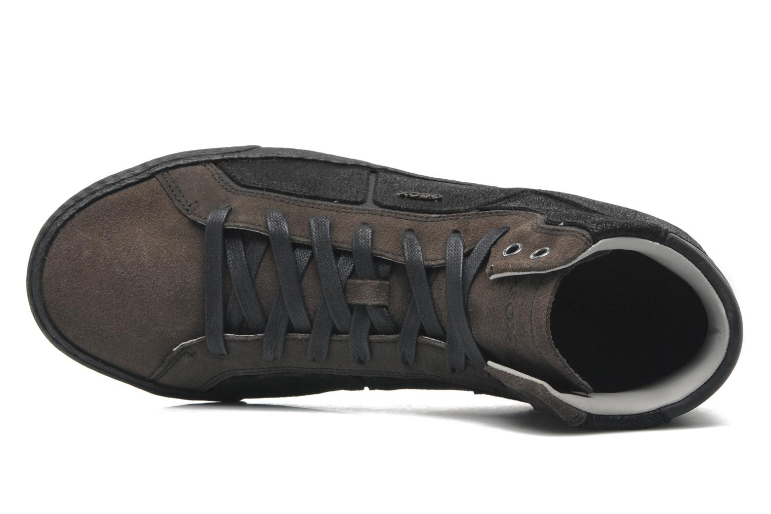 Trainers Geox U SMART R Black view from the left
