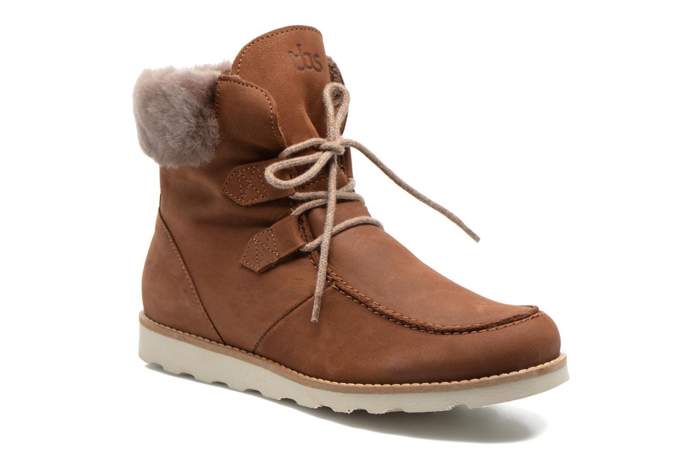 Bottines et boots TBS Ariana Marron vue détail/paire