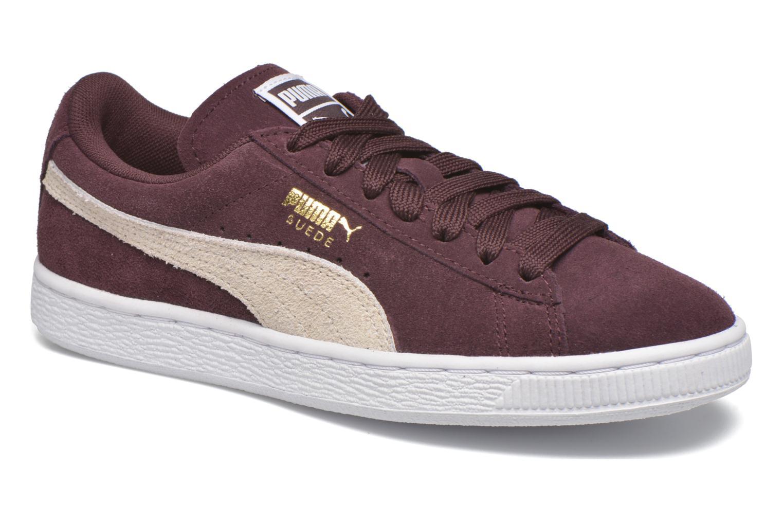 Sneakers Puma Suede Classic Wn's Vinröd detaljerad bild på paret