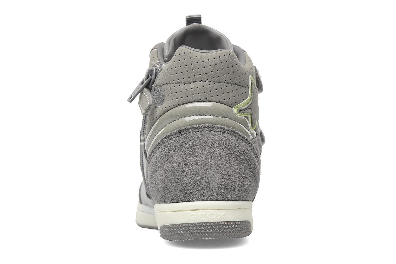 Sneaker Geox J CREAMY D grau ansicht von rechts