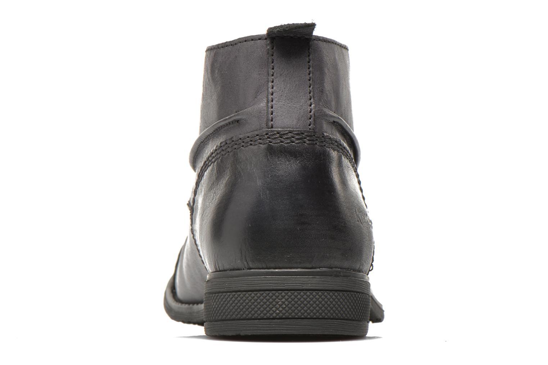 Snörade skor Kickers MASSIMO Svart Bild från höger sidan