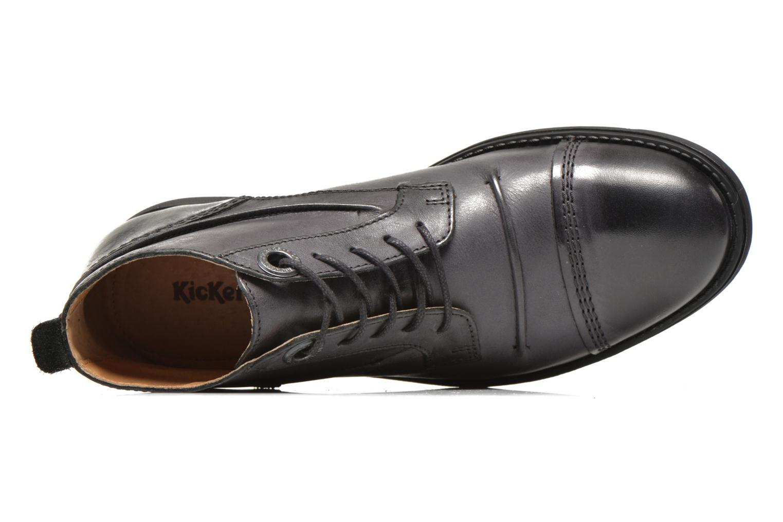 Snörade skor Kickers MASSIMO Svart bild från vänster sidan