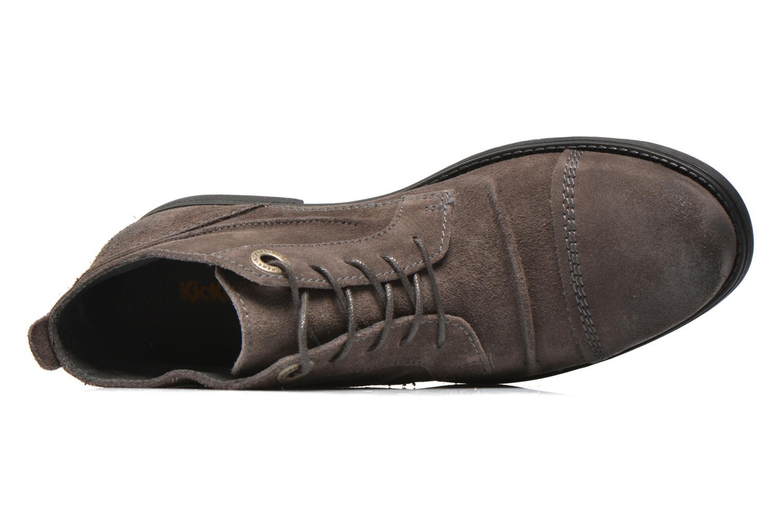 Snörade skor Kickers MASSIMO Grå bild från vänster sidan