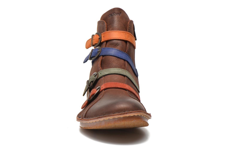 Bottines et boots Kickers WAXING Multicolore vue portées chaussures
