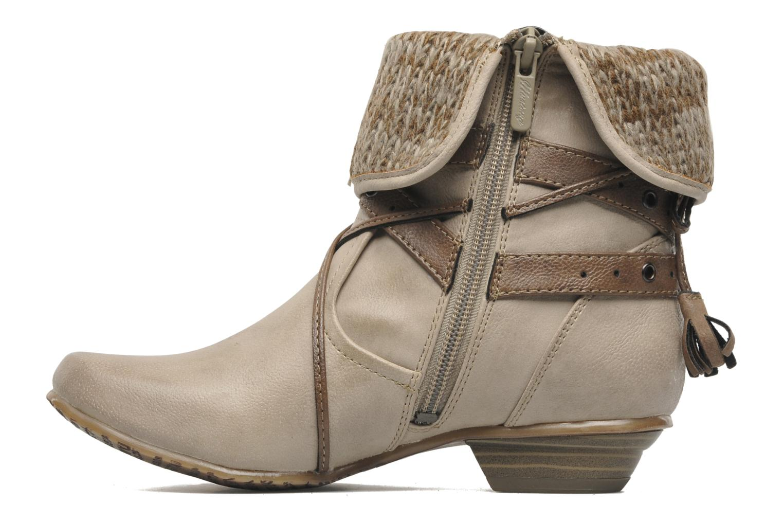 Ankle boots Mustang shoes Brune Beige front view