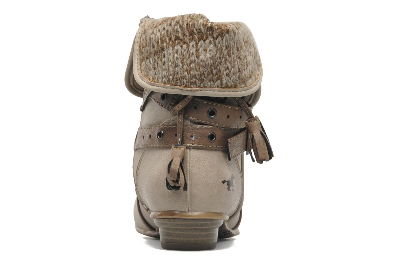 Boots en enkellaarsjes Mustang shoes Brune Beige rechts