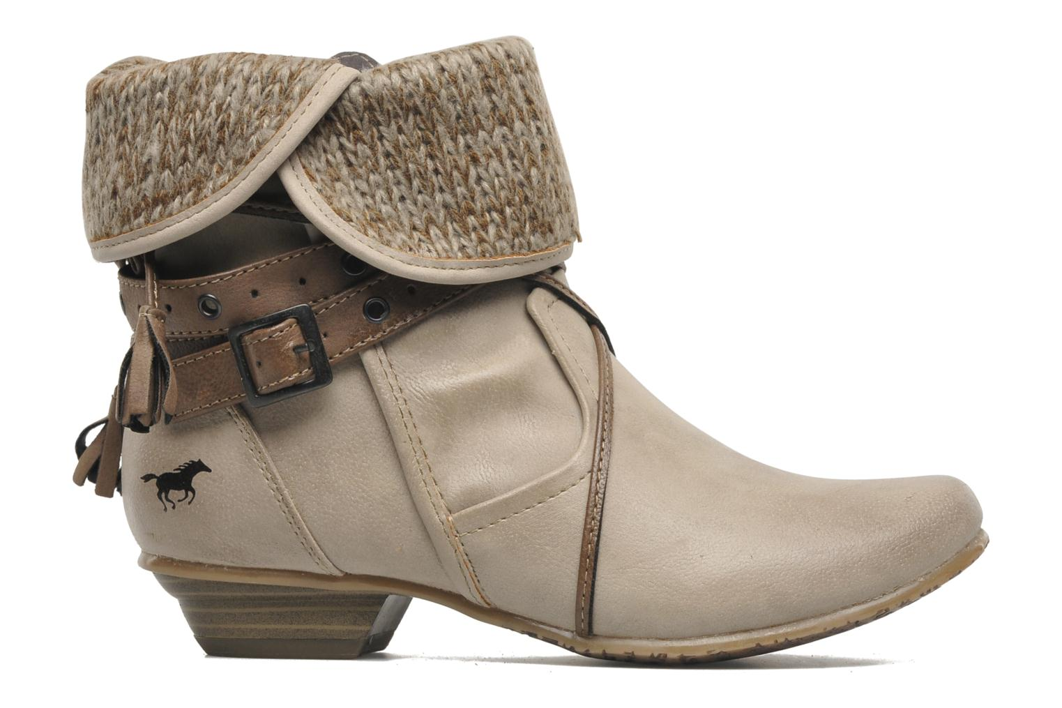 Ankle boots Mustang shoes Brune Beige back view