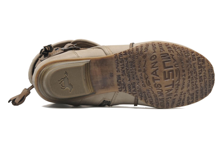 Boots en enkellaarsjes Mustang shoes Brune Beige boven