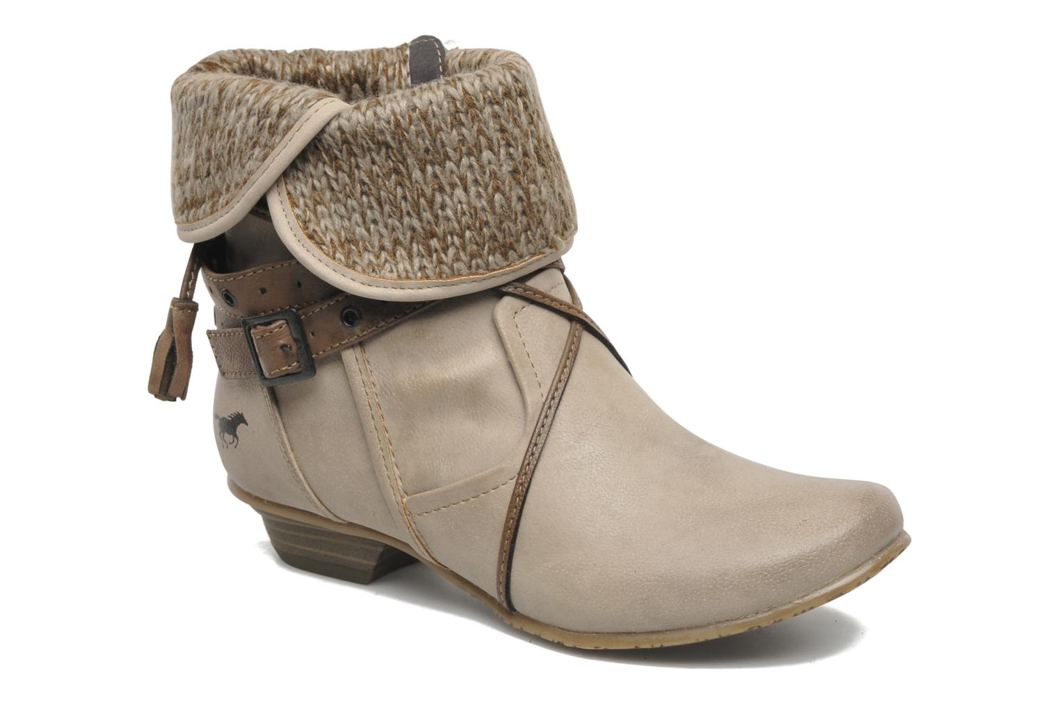 Ankle boots Mustang shoes Brune Beige detailed view/ Pair view