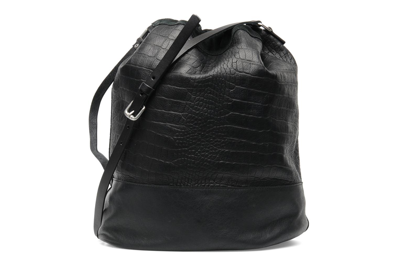 Håndtasker Pieces Daria leather Bucket bag Sort se forfra