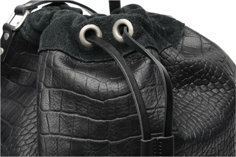 Håndtasker Pieces Daria leather Bucket bag Sort se fra venstre