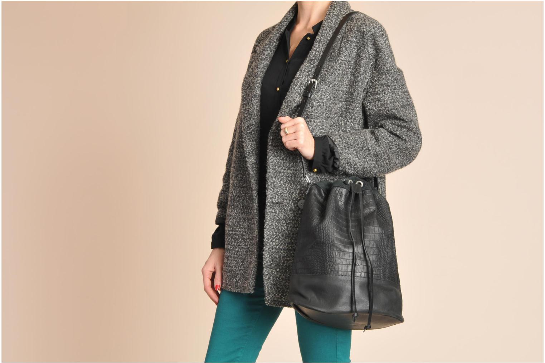 Håndtasker Pieces Daria leather Bucket bag Sort se foroven
