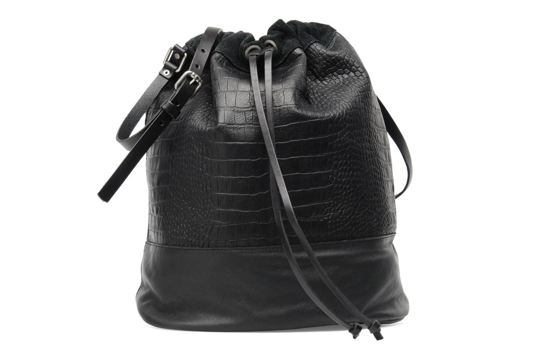 Håndtasker Pieces Daria leather Bucket bag Sort detaljeret billede af skoene
