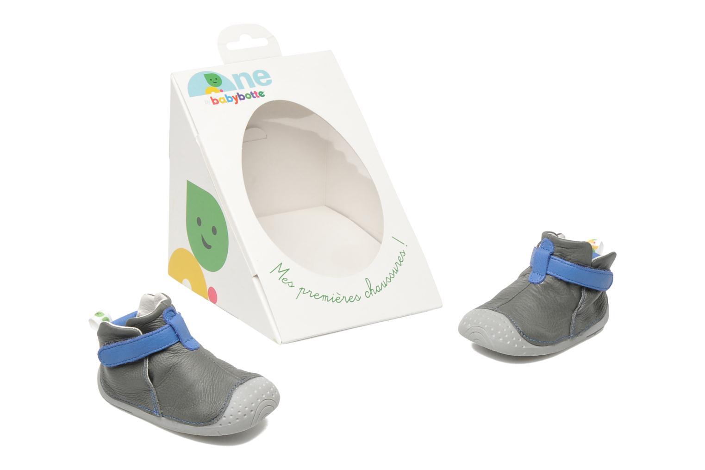 Chaussures à scratch Babybotte ZAK Gris vue 3/4
