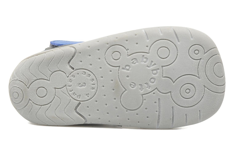 Chaussures à scratch Babybotte ZAK Gris vue haut
