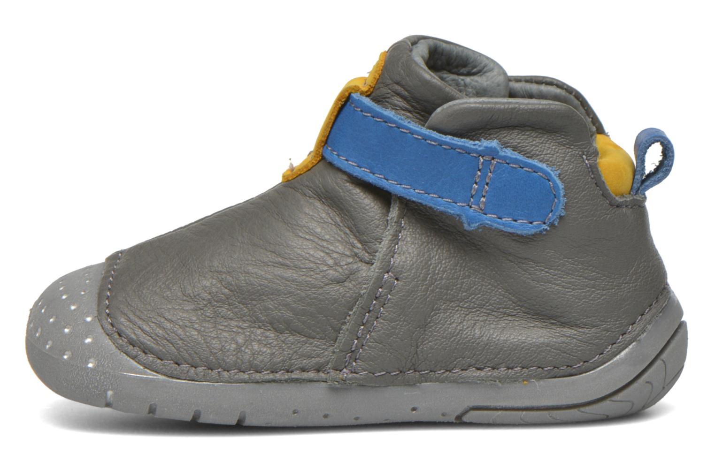 Zapatos con velcro Babybotte ZAK Gris vista de frente