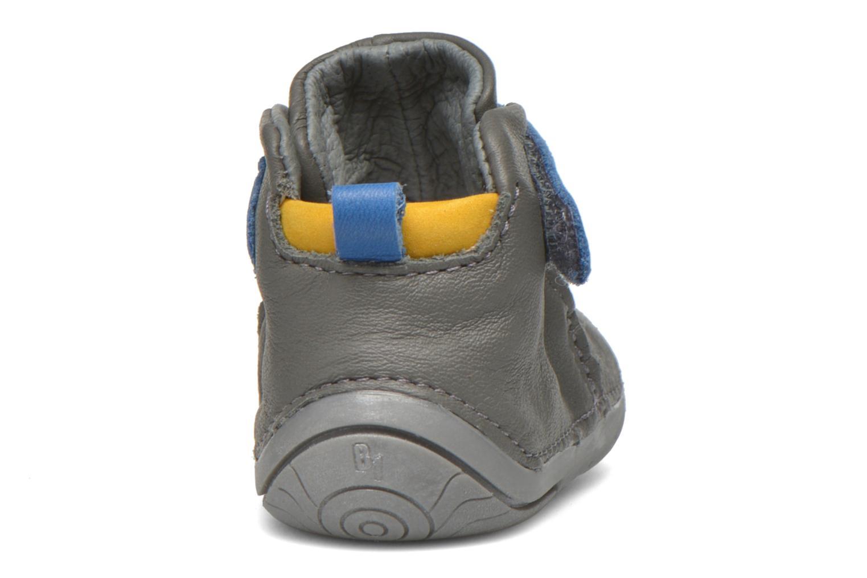 Zapatos con velcro Babybotte ZAK Gris vista lateral derecha
