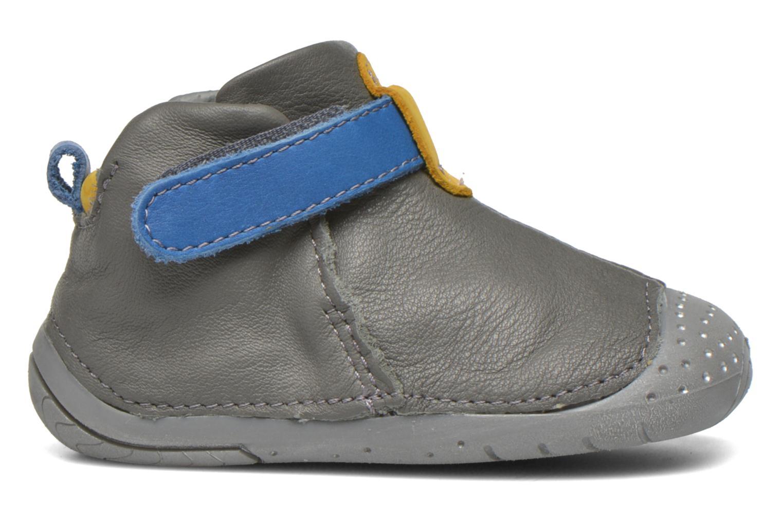 Zapatos con velcro Babybotte ZAK Gris vistra trasera