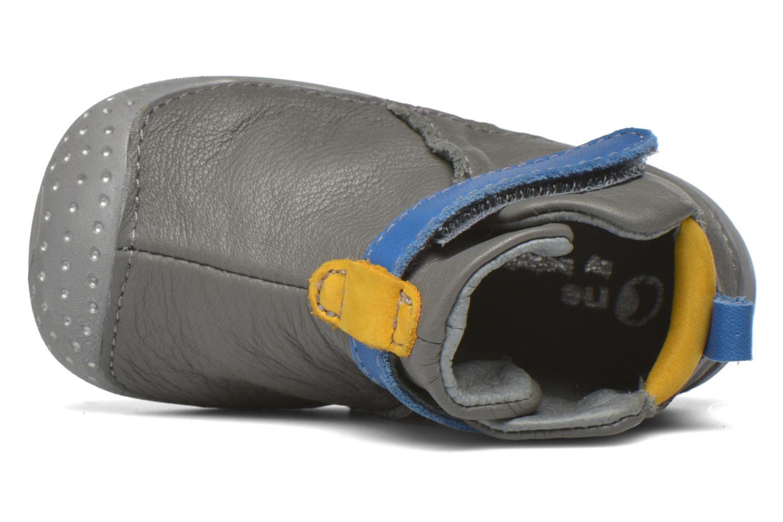 Zapatos con velcro Babybotte ZAK Gris vista lateral izquierda