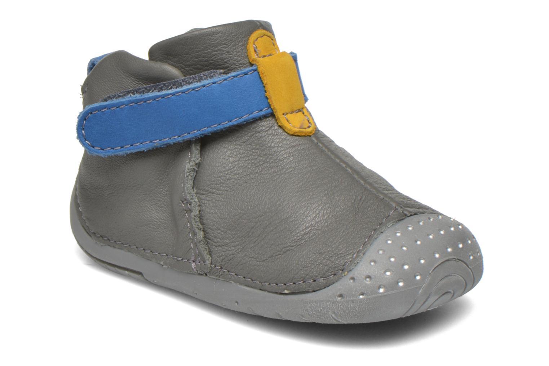Zapatos con velcro Babybotte ZAK Gris vista de detalle / par