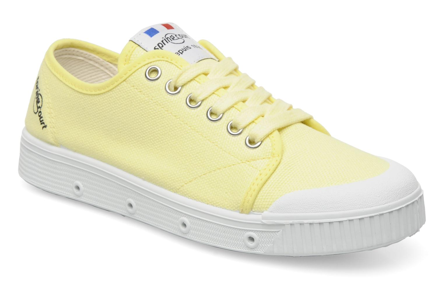 Sneakers Spring Court G2 CLASSIC F1 Geel detail