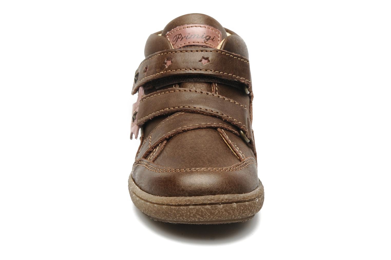 Chaussures à scratch Primigi SKIBBY-E Marron vue portées chaussures