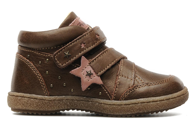 Chaussures à scratch Primigi SKIBBY-E Marron vue derrière