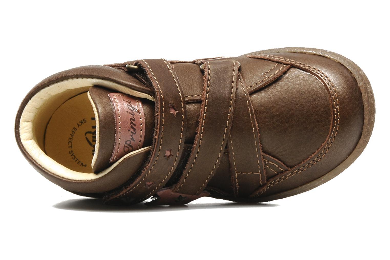 Chaussures à scratch Primigi SKIBBY-E Marron vue gauche