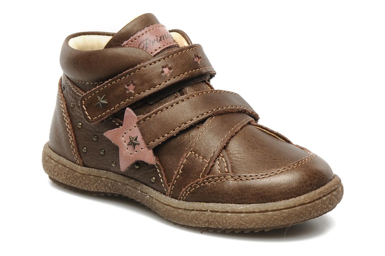 Chaussures à scratch Primigi SKIBBY-E Marron vue détail/paire
