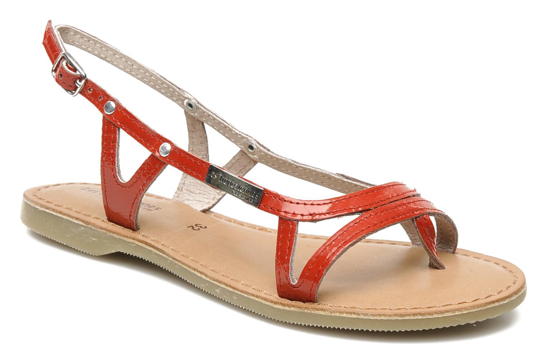 Sandals Les Tropéziennes par M Belarbi ISATIS E Red detailed view/ Pair view