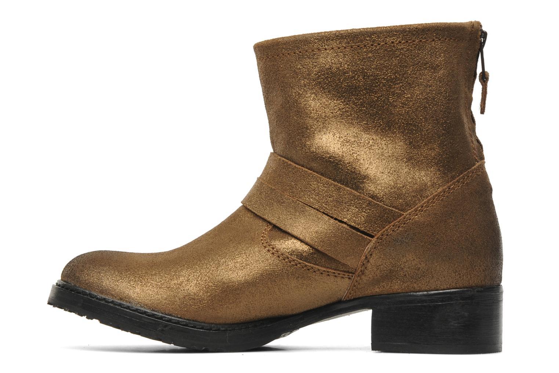 Ankelstøvler Any Boots Maryline Guld og bronze se forfra