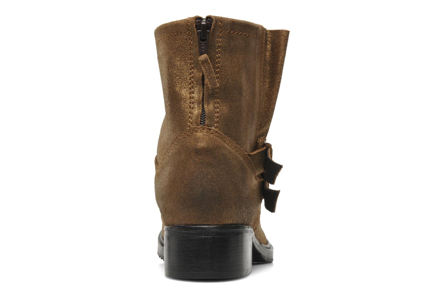 Ankle boots Any Boots Maryline Bronze and Gold view from the right