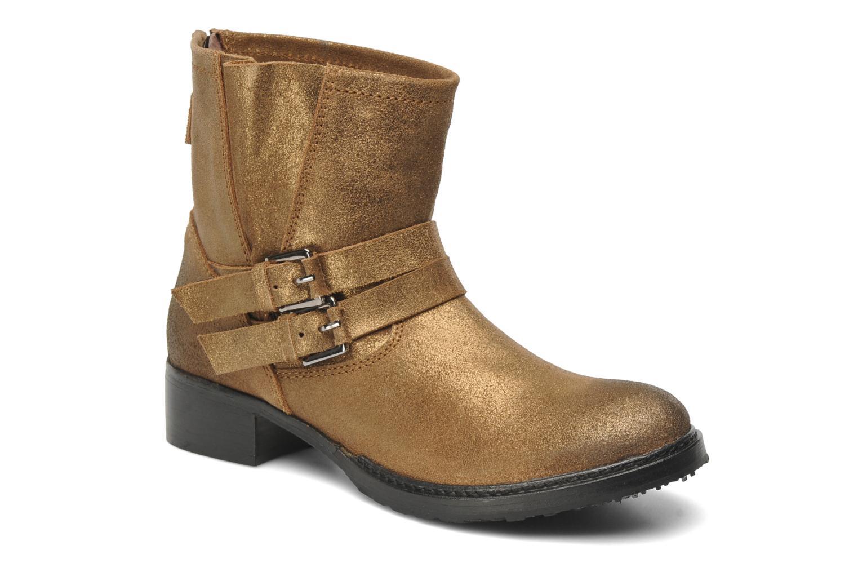 Ankelstøvler Any Boots Maryline Guld og bronze detaljeret billede af skoene