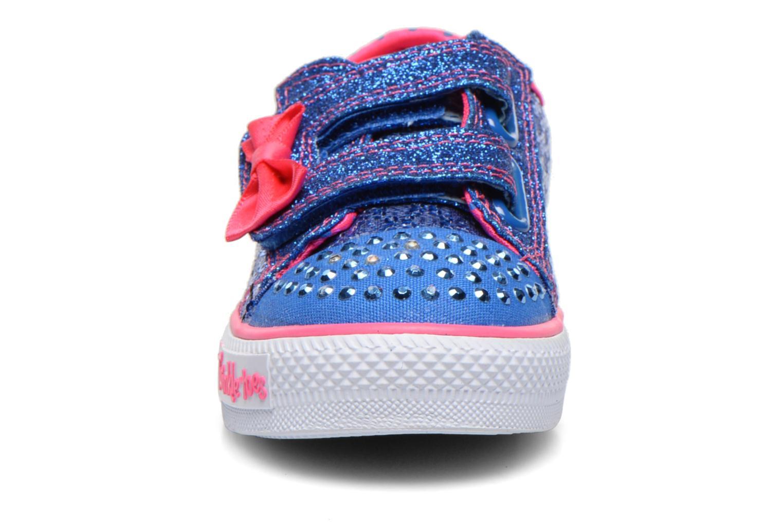Baskets Skechers Shuffles Sweet Steps Bleu vue portées chaussures