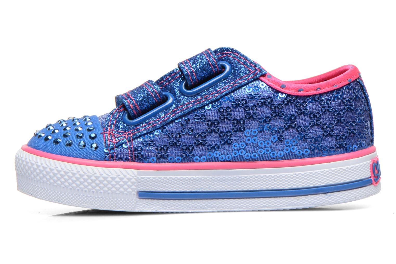 Baskets Skechers Shuffles Sweet Steps Bleu vue face