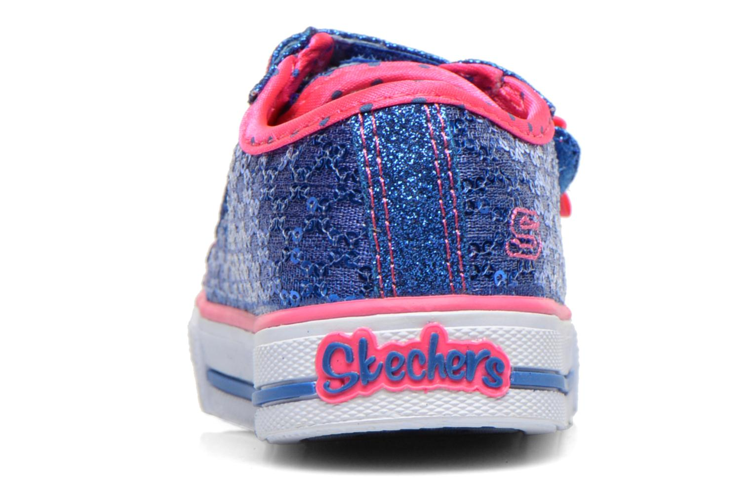 Trainers Skechers Shuffles Sweet Steps Blue view from the right