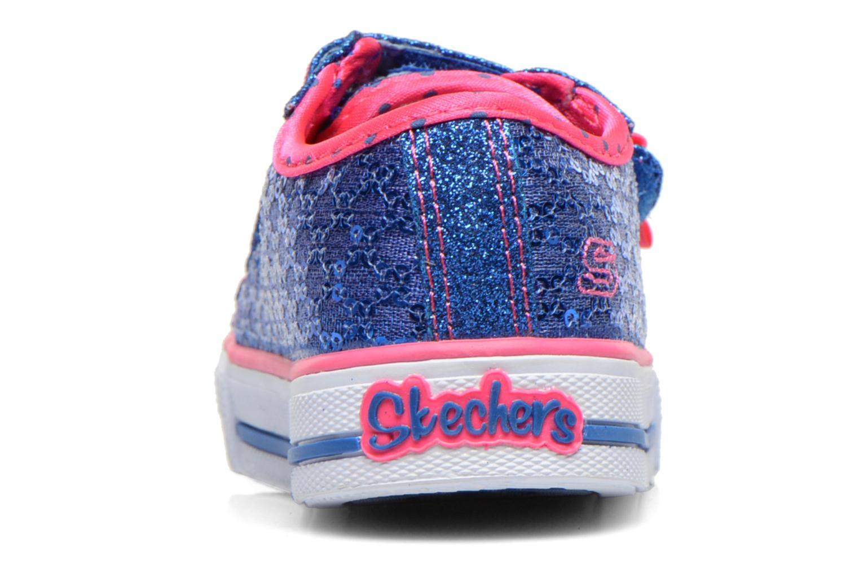 Sneaker Skechers Shuffles Sweet Steps blau ansicht von rechts