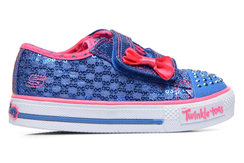 Sneaker Skechers Shuffles Sweet Steps blau ansicht von hinten