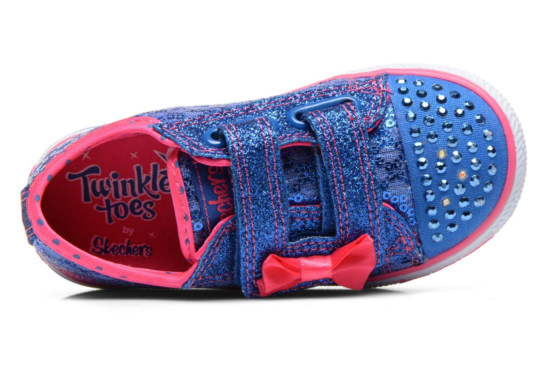 Baskets Skechers Shuffles Sweet Steps Bleu vue gauche