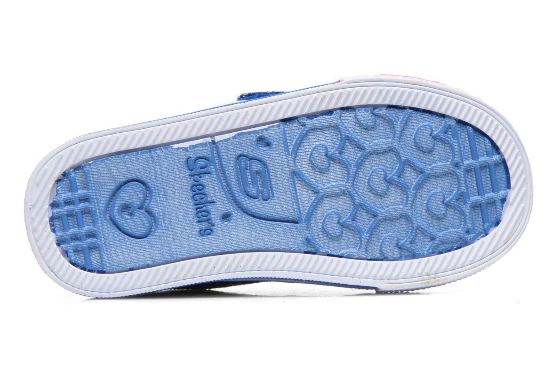 Baskets Skechers Shuffles Sweet Steps Bleu vue haut