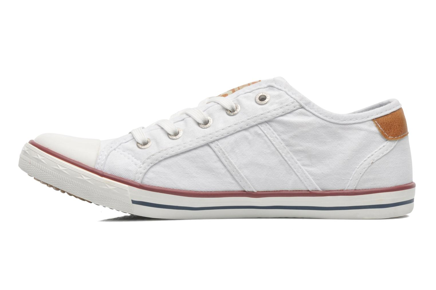 Trainers Mustang shoes Pitaya White front view