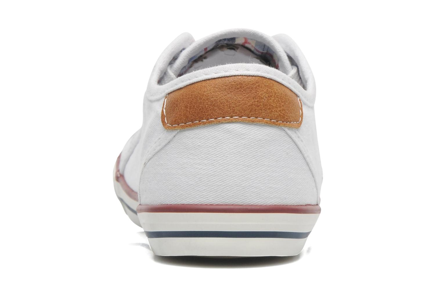 Baskets Mustang shoes Pitaya Blanc vue droite