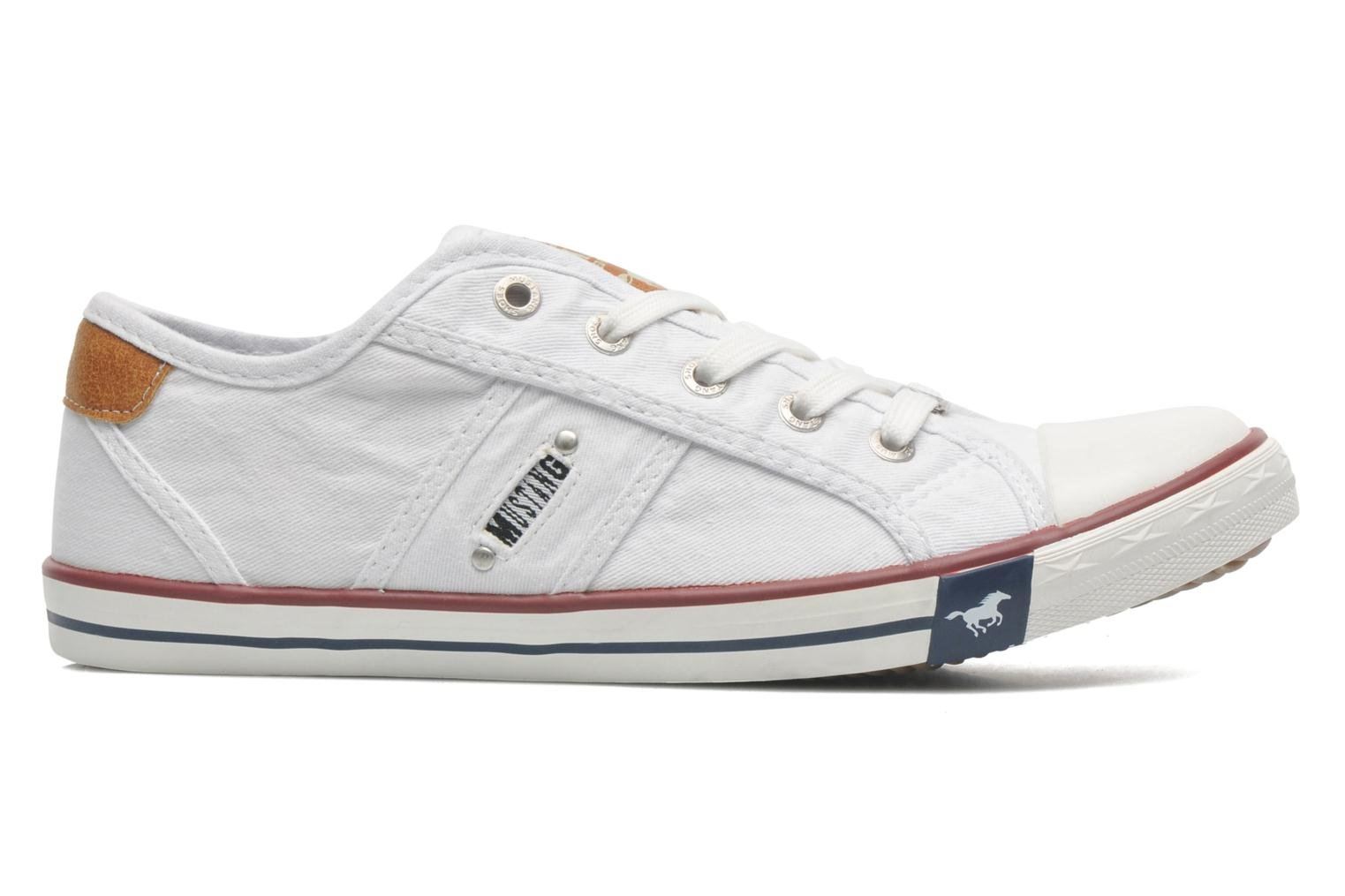 Trainers Mustang shoes Pitaya White back view