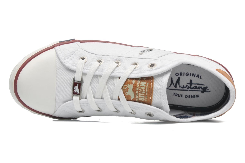 Sneaker Mustang shoes Pitaya weiß ansicht von links