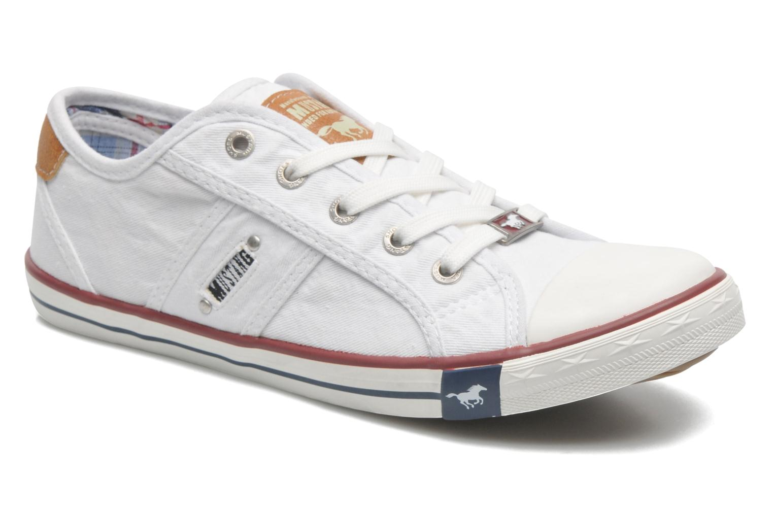 Trainers Mustang shoes Pitaya White detailed view/ Pair view